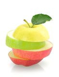 Apple slices Stock Images
