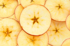 Apple slices. Fresh and tasty apple slices Stock Photography