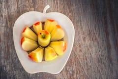 Apple slices clean eating background apple corer slicer royalty free stock image