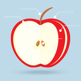 Apple slices structure diagram  on background Royalty Free Stock Photography