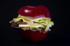 Apple smörgås Arkivbild