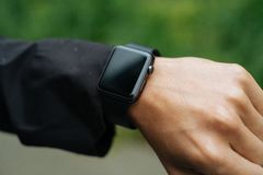 Apple smartwatch on wrist