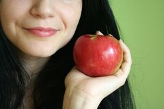 Apple and smile Royalty Free Stock Photos