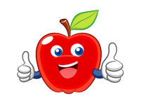 Apple smile cartoon Royalty Free Stock Photo