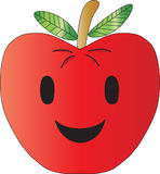 Apple smile. An illustration of apple sweet smile Royalty Free Stock Image