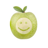 Apple smiley Royaltyfri Fotografi