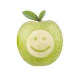 Apple smiley Royaltyfri Fotografi