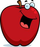Apple Smiling. A cartoon red apple smiling Royalty Free Stock Images