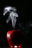 Apple smoke Royalty Free Stock Image