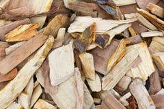 Apple smoking chips close view Stock Photo