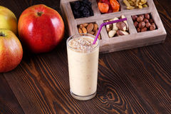 Apple smoothie. Morning breakfast. Vitamins Royalty Free Stock Image