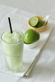 Apple smoothies drinks on white background Stock Photography