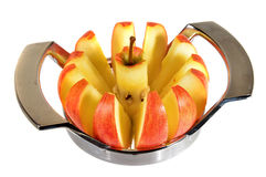 Apple-snijmachine stock afbeelding