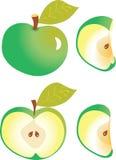 Apple snitt in i fjärdedelar Royaltyfria Bilder
