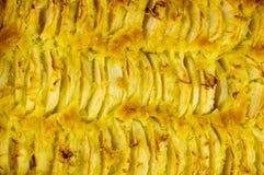Apple som är syrlig med citronpiff Arkivfoto