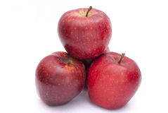 Apple. Some apples on a white background Royalty Free Stock Photos