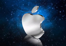Apple and space Stock Photos