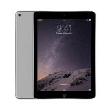 Apple Space Gray iPad Air 2 with iOS 8 with lock screen on the d Stock Photo