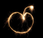 Apple sparkler Royalty Free Stock Image