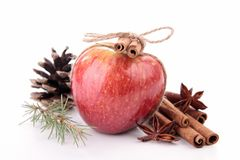 Apple and spice Royalty Free Stock Photos
