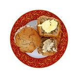 Apple Spice Muffins Overhead View Stock Image
