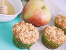 Apple spiced muffins with streusel topping Royalty Free Stock Photo