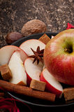 Apple and spices Royalty Free Stock Photos