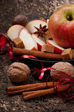 Apple and spices Stock Photos