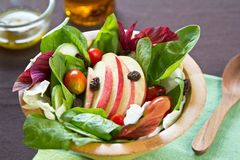 Apple and spinach salad Stock Images