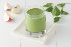 Apple spinach smothie royalty free stock image