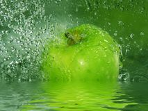 Apple splash Stock Photography