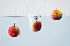 Apple splash Royalty Free Stock Photography