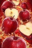 Apple splash. Apple fruits with splash water stock images