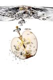 Apple splash in water Stock Image