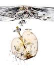 Apple splash in water Stock Image