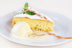 Apple sponge cake Stock Image