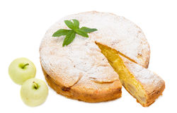 Apple sponge cake Stock Photos