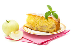Apple sponge cake Royalty Free Stock Photos