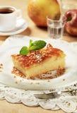Apple sponge cake Royalty Free Stock Photos