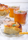 Apple sponge cake Stock Images