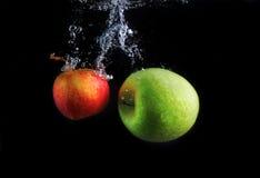 Apple spritzen lizenzfreies stockbild