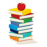 Apple Stack Book Stock Image