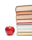 Apple and stack of books Royalty Free Stock Image