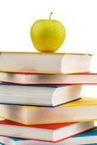 Apple on a stack of books Stock Photography