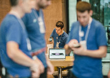 Apple starts iPhone 6 sales worldwide Stock Photos