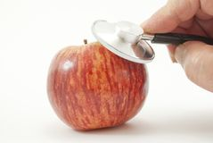 Apple stethoscope Royalty Free Stock Photo
