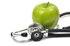 Apple and Stethoscope Royalty Free Stock Image