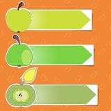 Apple stickers vector Stock Images