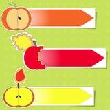 Apple stickers vector Stock Photo