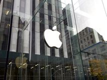 Apple Store à New York, Etats-Unis photos stock